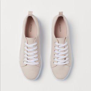 H&M Platform Canvas Sneakers Sz 36 / US6